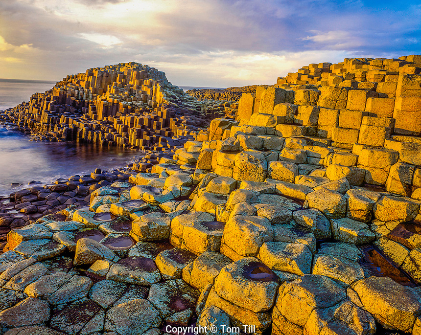 Giants Causeway, Northern Ireland, United Kingdom, Giants Causeway National Park, September, County Antrim, basalt rock formations, National Trust Site