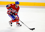 9 January 2010: Montreal Canadiens' defenseman Roman Hamrlik in action against the New Jersey Devils at the Bell Centre in Montreal, Quebec, Canada. The Devils edged out the Canadiens 2-1 in overtime. Mandatory Credit: Ed Wolfstein Photo