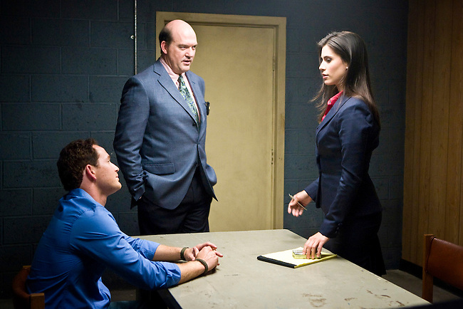 Cole Hauser as Trevor Cobb, John Carroll Lynch as Captain James Embry and Milena Govich as D.A. Lyndsey Swann in Fox Television's 'K-Ville' - a police drama set in New Orleans after Hurricane Katrina.