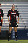 04 October 2014: Louisville's Hannah Konermann. The Duke University Blue Devils hosted the University of Louisville Cardinals at Koskinen Stadium in Durham, North Carolina in a 2014 NCAA Division I Women's Soccer match. The game ended in a 0-0 tie after double overtime.