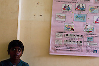 Educational picture charts and posters hang on the walls in the Bardia District Hospital in Bardia, Western Nepal, on 29th June 2012. In Bardia, StC works with the district health office to build the capacity of female community health workers who are on the frontline of health service provision like ante-natal and post-natal care, and working together against child marriage and teenage pregnancy especially in rural areas. Photo by Suzanne Lee for Save The Children UK