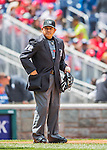 15 May 2016: MLB Umpire Alfonso Marquez works home plate during a game between the Miami Marlins and the Washington Nationals at Nationals Park in Washington, DC. The Marlins defeated the Nationals 5-1 in the final game of their 4-game series.  Mandatory Credit: Ed Wolfstein Photo *** RAW (NEF) Image File Available ***