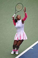 FLUSHING NY- SEPTEMBER 03: Serena Williams Vs Johanna Larssonon Arthur Ashe Stadium at the USTA Billie Jean King National Tennis Center on September 3, 2016 in Flushing Queens. Credit: mpi04/MediaPunch