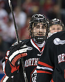 Cody Ferriero (NU - 79) - The visiting Northeastern University Huskies defeated the Boston University Terriers 6-5 on Friday, January 18, 2013, at Agganis Arena in Boston, Massachusetts.