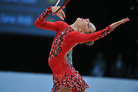 Melitina Staniouta of Belarus performs at 2010 World Cup at Portimao, Portugal on March 12, 2010.  (Photo by Tom Theobald).