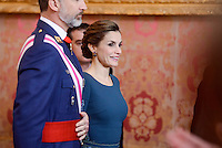 King Felipe VI and Queen Letizia during Military Easter.