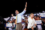 Republican vice presidential candidate Rep. Paul Ryan arrives at a campaign rally in Fort Myers, Florida, October 18, 2012.
