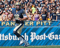 Pitt quarterback Chad Voytik. The Akron Zips Defeated the Pitt Panthers 21-10 at Heinz Field, Pittsburgh. Pennsylvania on September 27, 2014.