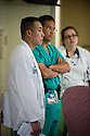 St. Mary's Medical Center. Teofilo Lama, M.D., release 20120524001, center, and Vincent Kan, class of 2014.