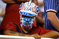 7 June 2011: USA fan sits in the stands during the CONCACAFsoccer match between USA MNT and Canada MNT at Ford Field Detroit, Michigan.