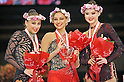 (L-R) Daria Kondakova, Evgeniya Kanaeva (RUS), Alina Maksymenko (UKR), OCTOBER 30, 2010 - Rhythmic Gymnastics : Second placed Daria Kondakova of Russia, winner Evgeniya Kanaeva of Russia and third placed Alina Maksymenko of Ukraine pose after the senior's individual all-around final round during the AEON CUP 2011 Worldwide R.G. Club Championships at Tokyo Metropolitan Gymnasium in Tokyo, Japan. (Photo by AFLO)