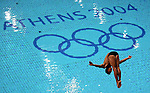 8/24/04 --Al Diaz/Miami Herald/KRT--Athens, Greece--Diving at the Olympic Aquatic Centre during the Athens 2004 Olympic Games. Fernando Platas of Mexico comes in fifth in the final of the Men's 3m Springboard.