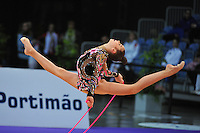Alexandra Merkulova (junior) of Russia performs at 2010 World Cup at Portimao, Portugal on March 11, 2010.  (Photo by Tom Theobald).