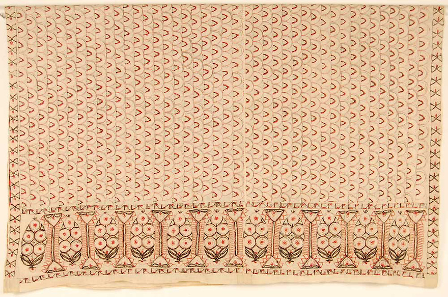 ANTIQUE SINDH WEDDING ABOCHINI PHULKARI BAGH SHAWL FROM SINDH REGION OF UNDIVIDED INDIA, NOW PAKISTAN. HAND EMBROIDERED WITH SILK FLOSS. <br />