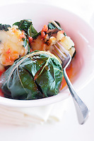 Europe/France/Provence-Alpes-Côte d'Azur/06/Alpes-Maritimes/Nice: Feuilles de blettes farcies, recette de Marco  du restaurant La Zucca Magica