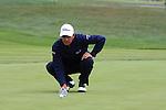 Tom Pernice Jr. putting on 6th green at Pebble Beach Golf links