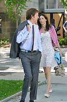 Sir Paul McCartney and Nancy Shevell in Hewitt Quadrangle, Yale University, New Haven, CT before the Yale Commencement Ceremonies. Paul was Conferred the Honorary Doctor of Music Degree, Mus. D later that morning. | Photography Copyright James R Anderson
