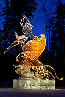 King of the Jungle, Ice sculpture, World Ice Sculpting Competition, Fairbanks, Alaska