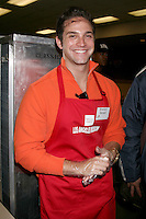 Brandon Barash at the LA Mission Thanksgivng Feeding of the Homeless in    Los Angeles, CA.November 26, 2008.©2008 Kathy Hutchins / Hutchins Photo....