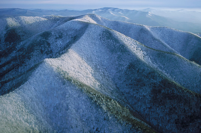 Snow crusted Big Frog Mountain, Cherokee National Forest