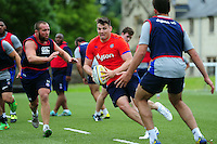 David Sisi of Bath Rugby in action. Bath Rugby pre-season skills training on June 21, 2016 at Farleigh House in Bath, England. Photo by: Patrick Khachfe / Onside Images