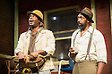 FENCES, by August Wilson, opens at the Duchess Theatre, in London's West End, following a successful run at Theatre Royal Bath. Lenny Henry takes on the lead role of Troy Maxson in, this production, which is directed by Paulette Randall. Picture shows: Ako Mitchell (Gabriel) and Lenny Henry (Troy Maxson).