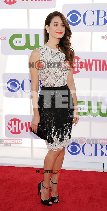 BEVERLY HILLS, CA - JULY 29: Emmy Rossum arrives at the CBS, Showtime and The CW 2012 TCA summer tour party at 9900 Wilshire Blvd on July 29, 2012 in Beverly Hills, California. /NortePhoto.com<br /> <br />  **CREDITO*OBLIGATORIO** *No*Venta*A*Terceros*<br /> *No*Sale*So*third* ***No*Se*Permite*Hacer Archivo***No*Sale*So*third*