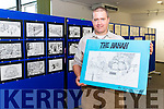 """Martin Carey at the launch of his new book of cartoons entitled """"The Hahah"""" in the Killarney's Library last Saturday."""