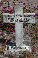 Mexican Cemetery 13 - Photograph taken in El Panteón Cementario, also know as Cementario Viejo or old cemetery, in Puerto Vallarta, Mexico.