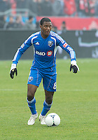 20 October 2012: Montreal Impact midfielder Patrice Bernier #8 in action during an MLS game between the Montreal Impact and Toronto FC at BMO Field in Toronto, Ontario..The game ended in a 0-0 draw..