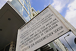 Signpost checkpoint Charlie Berlin American sector