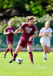 19 September 2010: Colgate University Raider forward Anna Baldwin, a Senior from Woodbury, CT, in action against the University of Vermont Catamounts at Centennial Field in Burlington, Vermont. The Raiders scored a pair of second half goals two minutes apart to notch a 2-0 victory over the Lady Cats in non-conference women's soccer play. Mandatory Credit: Ed Wolfstein Photo