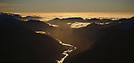 Aerial of Haast River. Westland Region. New Zealand.