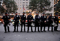 NYPD Polices Officers stands out side Waldorf-Astoria Hotel, the venue for the 67th Annual Alfred E. Smith Memorial Foundation Dinner in New York, United States. 18/10/2012. by Kena Betancur / VIEWpress.