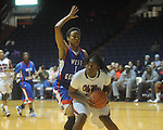 Ole Miss's Latosha Lawn (23) vs. West Georgia's Shunice Hardy (1) in women's college basketball action in Oxford, Miss. on Thursday, November 4, 2010.