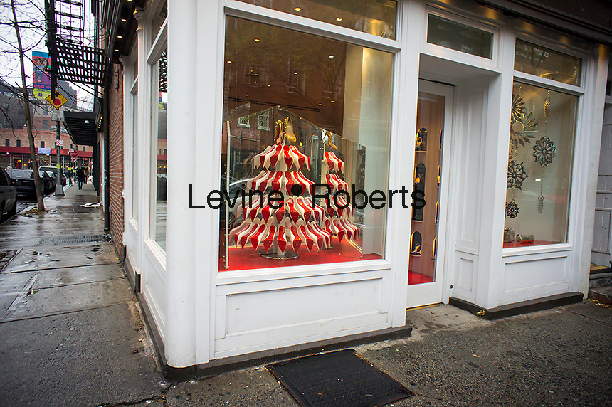 red soled Christmas treet | Richard Levine