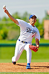6 March 2006: Takashi Saito, pitcher for the Los Angeles Dodgers, winds up during a Spring Training game against the Washington Nationals. The Nationals and Dodgers played to a scoreless tie at Holeman Stadium, in Vero Beach Florida...Mandatory Photo Credit: Ed Wolfstein..