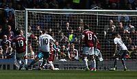 Manchester United's Wayne Rooney scores his sides second goal <br /> <br /> Photographer Stephen White/CameraSport<br /> <br /> The Premier League - Burnley v Manchester United - Sunday 23rd April 2017 - Turf Moor - Burnley<br /> <br /> World Copyright &copy; 2017 CameraSport. All rights reserved. 43 Linden Ave. Countesthorpe. Leicester. England. LE8 5PG - Tel: +44 (0) 116 277 4147 - admin@camerasport.com - www.camerasport.com