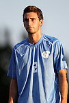 31 August 2012: UNC's Jonathan Campbell. The University of North Carolina Tar Heels defeated the West Virginia University Mountaineers 1-0 at Fetzer Field in Chapel Hill, North Carolina in a 2012 NCAA Division I Men's Soccer game.