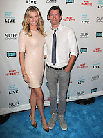 Rebecca Romijn, Jerry O'Connell.Bravo's Andy Cohen's Book Release Party For &quot;Most Talkative: Stories From The Front Lines Of Pop Held at SUR Lounge, West Hollywood, California, USA..May 14th, 2012.full length pink peach dress grey gray jeans denim tie white shirt married husband wife sequins sequined.CAP/ADM/KB.&copy;Kevan Brooks/AdMedia/Capital Pictures.