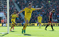 Burnley's Sam Vokes celebrates scoring his sides first goal <br /> <br /> Photographer Ian Cook/CameraSport<br /> <br /> The Premier League - Bournemouth v Burnley - Saturday 13th May 2017 - Vitality Stadium - Bournemouth<br /> <br /> World Copyright &copy; 2017 CameraSport. All rights reserved. 43 Linden Ave. Countesthorpe. Leicester. England. LE8 5PG - Tel: +44 (0) 116 277 4147 - admin@camerasport.com - www.camerasport.com