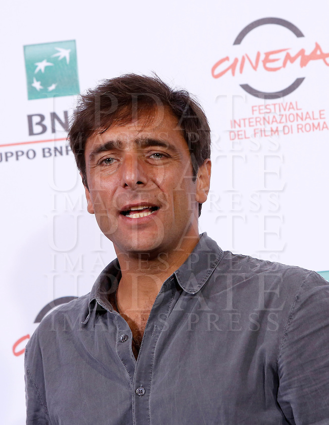 L'attore Adriano Giannini posa durante un photocall per la presentazione del film 'La foresta di ghiaccio' al Festival Internazionale del Film di Roma, 23 ottobre 2014.<br /> Italian actor Adriano Giannini poses during a photocall to present the movie 'La foresta di ghiaccio' at the international Rome Film Festival at Rome's Auditorium, 23 October 2014.<br /> UPDATE IMAGES PRESS/Riccardo De Luca