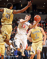 20110121 Georgia Tech Yellow Jackets Virginia Cavaliers NCAA men's basketball ACC