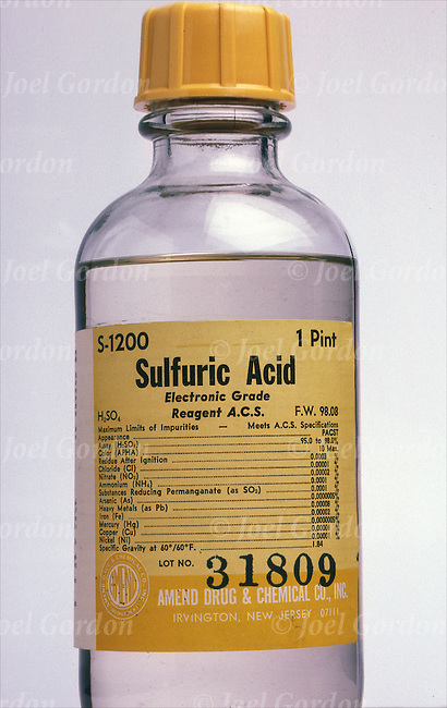 When diluting sulfuric acid, the acid should be added to the water ...