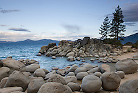 """Sand Harbor, Lake Tahoe"" - These boulders were photographed in the morning at Sand Harbor, Lake Tahoe."