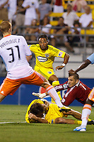 24 JULY 2010:  Leandre Griffit of the Columbus Crew (13) score his first goal in his first MLS game during MLS soccer game between Houston Dynamo vs Columbus Crew at Crew Stadium in Columbus, Ohio on July 3, 2010. Columbus defeated the Dynamo 3-0.