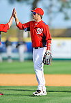 2 March 2011: Washington Nationals outfielder Bryce Harper celebrates victory during Spring Training action against the Florida Marlins at Space Coast Stadium in Viera, Florida. The Nationals defeated the Marlins 8-4 in Grapefruit League action. Mandatory Credit: Ed Wolfstein Photo