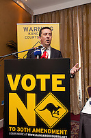 NO REPRO FEE. VOTE NO TO THE 30TH AMENDMENT.   Donnacha O'Connell, National University of Ireland Galway  is pictured at the Official launch of the 'NO' Campaign at the The Westbury Hotel, Dubliin. Picture James Horan/Collins.