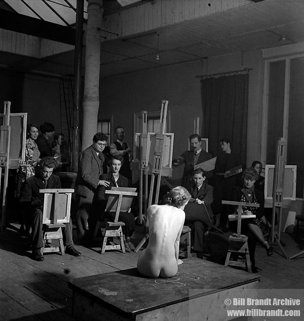 Artist class, Euston Road School of Art, 1950s