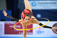 Tsvetelina Stoyanova of Bulgaria performs with hoop at 2010 Pesaro World Cup on August 27, 2010 at Pesaro, Italy.  Photo by Tom Theobald.